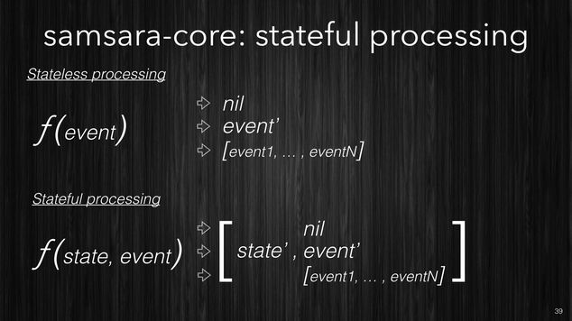 Samsara's stateful processing functions
